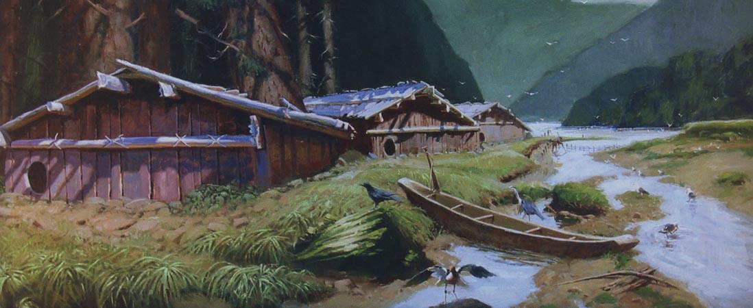 northwest coast plank house, pacific northwest coast tlingit, cedar plank house, tlingit plank house, on pacific northwest indian plank house
