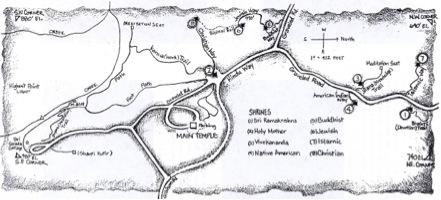 Vedanta Society map